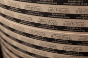 Label rolls of the toilet paper packets that are made at the Sirkin Center in San Leandro, CA, on May 11, 2020.