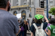 Protesters demonstrate against police brutality in San Francisco, CA , on May 30, 2020.