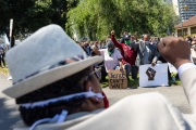 A peaceful march for equality where supporters were asked to wear their  Sunday Best Attires was attended by hundreds of people of all ethnicities  in Oakland on June 6, 2020.