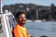 Kayaker Cyril Derreumaux  training off the coast of Sausalito, CA,  on February 25, 2021.France-born American entrepreneur Cyril Derreumaux (44) will leave at the end of May 2021 for a 70-day solo and unsupported sea kayak Pacific crossing from California to Hawaii.