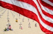 Fallen US Soldiers Remembered On Santa Barbara Beach