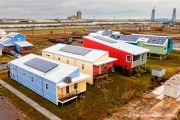 A view on December 22, 2011, of several new houses built by the Make It Right foundation in the lower ninth ward in New Orleans.